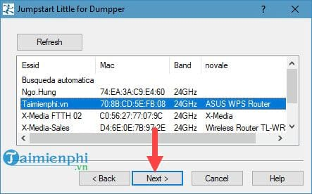 Hack pass wifi với Jumpstar