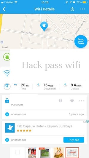 Hack Pass Wifi với Wifi Maps